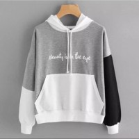 Sweater hodie biite beauty is in the eye hoodie-bahan babytery fit L