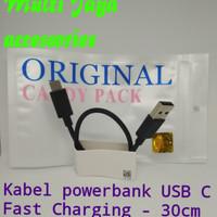 cable powerbank USB C Black /Fast Charging /kabel powerbank