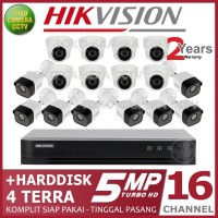 PAKET CCTV HIKVISION 5MP 16 CHANNEL HDD 4TB