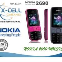 Nokia 2690 Gray & Red Original Refurbish Grade Super Ori Garansi