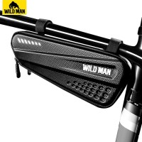 U WILD MAN Bicycle Bag Front Tube Frame Bag Hard Shell Rainproof