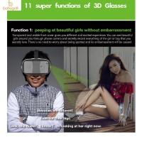 """Lucu FIit 2N Kacamata Virtual Reality 3D untuk Handphone 4.0-6.5 """""""