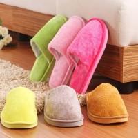 Sendal kamar bulu kain Home slipper indoor Sandal Tidur Rumah Polos
