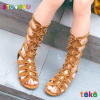 Sandal Boots Gladiator Anak Perempuan Bahan Kulit Sandal Toodler