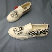 Sepatu Vans Slip On x JVH Cheker Marshmallow Premium BNIB