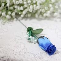 1 tangkai setangkai mawar rose bunga plastik artificial BIRU NAVY