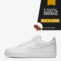 Sepatu Sneakers Original Sepatu Nike Air Force 1 '07 - Triple White - 8.5