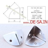 Plat Siku Besi 26MM Pelindung Sudut Meja - Table Corner Protector