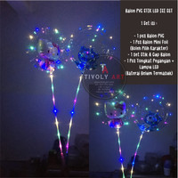 Balon PVC Stik LED ISI Set / Balon Transparant PVC ISI