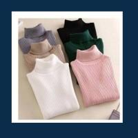 sweater wanita baju hangat turtleneck turtle neck rajut