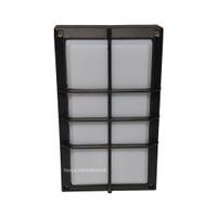 Lampu Dinding Outdoor/ Indoor Minimalis Kotak Hitam Dari Besi