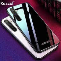 Casing Oppo Realme 5 Pro Glass Case Luxury Back Cover Tempered Mirror