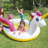 Kolam renang anak Mystic unicorn spray pool intex