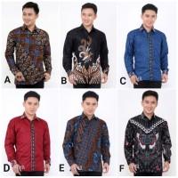 Kemeja Batik Pria Lengan Panjang 1 Baju Batik Pria Batik Cowok