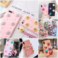 Korean Pink Series Case Motif Flower Samsung Galaxy A6 Plus