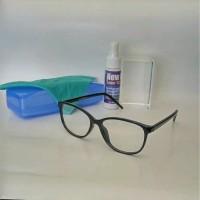 frame kacamata minus oval brown lensa dari HOYA Diskon