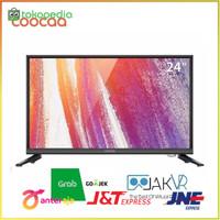 TV COOCAA LED 24 Inch HD Panel USB HDMI VGA Slim Model 24D3A Pilihan
