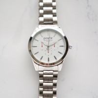 Positif Classic Watch PS4179 White Dial (Pria)