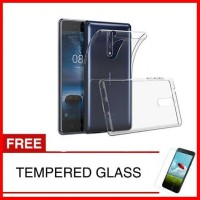case for nokia 8 2018 gratis clear tempered - +