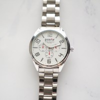Positif Classic Watch PS4136 White Dial (Pria)