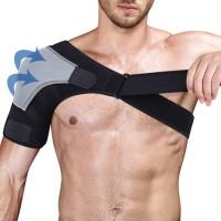 Shoulder Brace Arm Guard Band Pelindung Bahu Deker with Pressure Pad