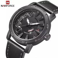 jam tangan NAVIFORCE 9154 PRIA TANGGAL HARI ANGKA KULIT