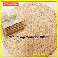 Karpet bulan anyaman eceng gondok full natural extra ordinary produk