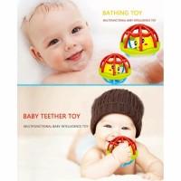 Mainan bayi rattle kerincing teether bola