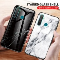 Marble Glass Case Realme 5i 5s Realme5i Realme5s Back Cover Casing HP