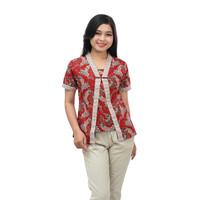 Blouse Batik_ Atasan Batik Wanita Kutubaru Modern