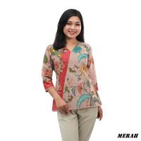 S-M-L-XL-XXL-3L-4L-5L-Blouse Batik-Atasan Batik -Batik Wanita JIPPER
