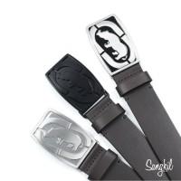 Ecko Unltd. Leather Belt with Logo Buckle Assorted Colors