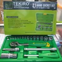 "KUNCI SOK SET TEKIRO 21 PCS / SOCKET WRENCH 1/4 - 3/8"" TEKIRO 21PCS"
