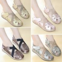 Sepatu Wanita Sneakers Kets Kulit Kasual Mulan 2313