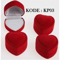 Kotak Cincin Love Bludru PGM KP03