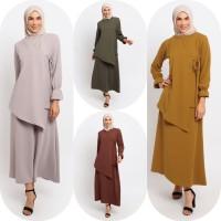 Gamis Muslim Wanita Le Najwa Zania Dress - Ash Rose
