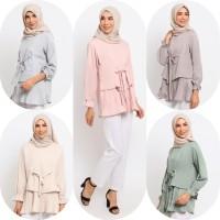 Baju Atasan Muslim Wanita Le Najwa Nazma Tunik - Green Dusty