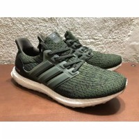 Adidas Ultra Boost 3.0 Green Army Premium Original / Sepatu Sneakers