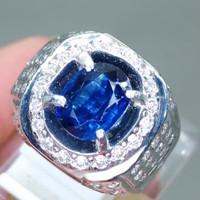 Batu Cincin Blue Kyanite Ceylon Safir Ausi asli Mantap