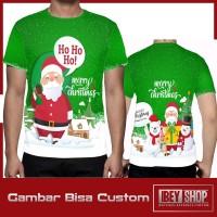 Kaos T-shirt Pria Fullprint Merry Christmas 2019 Art003