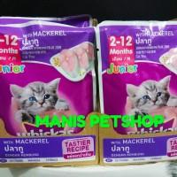 Whiskas Junior Sachet Rasa Mackerel 85g/Wetfood