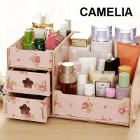 Rak Kosmetik Mini Desktop Storage cosmetic box organizer laci make up