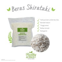 Konnyaku Rice Beras Konyaku Shirataki Keto Diet Keto Low Carbo 250 g