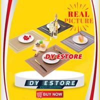 D554 Tatakan piring anti panas tatakan gelas hiasan meja alas meja - SILVER