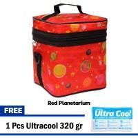 Cooler Bag / Thermal Bag / Tas Asi Free 1 Ice Gel