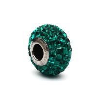 Perhiasan Liontin Kalung Charm Swarovski - Pave 201 Emerald