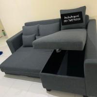 Sofa L Bed dengan Reclining - 210x170