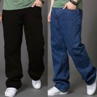 Celana jeans BIG SIZE REGULER - Hitam, 40