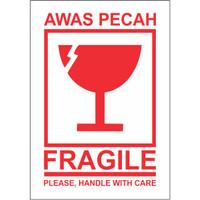 Stiker FRAGILE 10x15