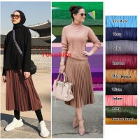 Rok Plisket Pendek 7/8 Model Payung fit to XXL